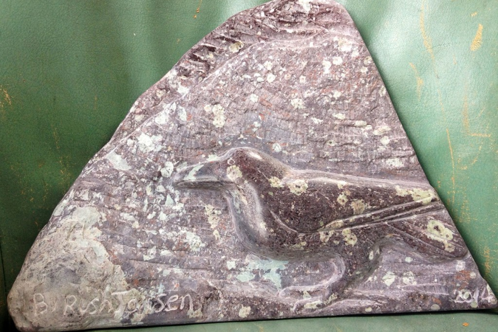 Silbury Hill Raven (relief)
